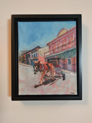 "sage gallagher - ""2020: the world is still beautiful: french quarter mule cart"" (8 x 10"")"
