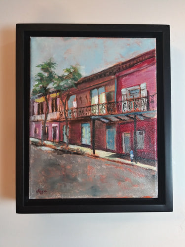 "sage gallagher - ""2020: the world is still beautiful: french quarter red"" (8 x 10"")"