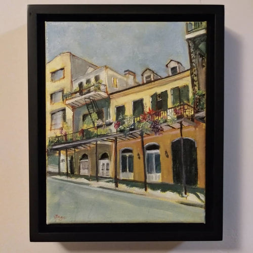"sage gallagher - ""2020: the world is still beautiful: french quarter yellow"" (8 x 10"")"
