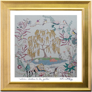 "Framed Print of Welcome Children to the Garden [Heavenly Mother and the Tree of Life] (21""x21"")"