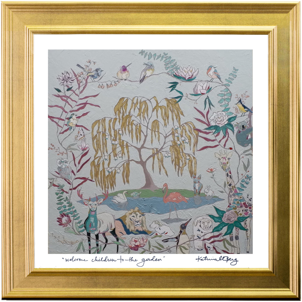 Framed Print of Welcome Children to the Garden [Heavenly Mother and the Tree of Life] (21