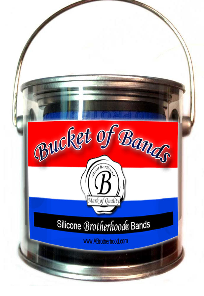 Thin Blue Line Law Enforcement Bucket of Bands Adult Size 15 To A Container