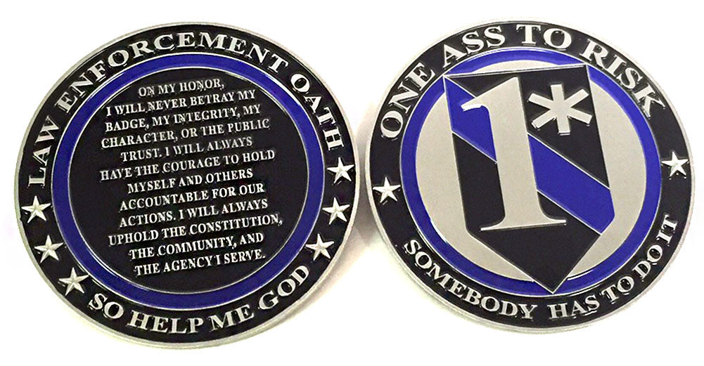 Police Gifts One Asterisk Challenge Coin for Law Enforcement