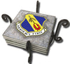 United States Air Force Fourth Fighter Wing Tile Coaster Set and Holder