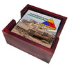 United States Army First Armored Division Old Ironsides Tanks Tile Coaster Set and Holder
