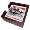 Birthplace of the United States Marine Corps Tun Tavern Tile Coaster Set and Holder