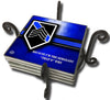 Thin Blue Line Law Enforcement Sergeant Because I'm The Sergeant Tile Coaster Set and Holder