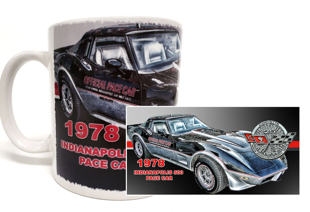 1978 Indianapolis 500 Pace Car Corvette 11 oz. Coffee Mug