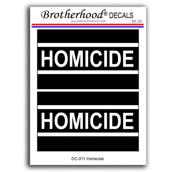Police Sheriff Homicide Crime Scene Investigator - 2 Decals or 2 Magnets