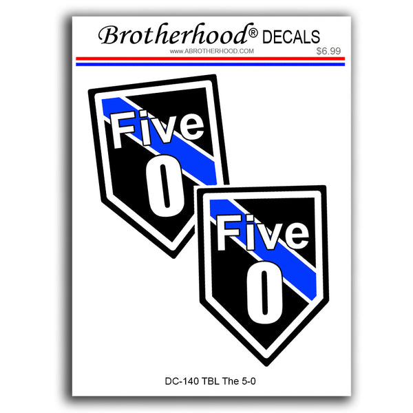 Thin Blue Line Police Sheriff Hawaii Five 0 - 2 Decals or Magnets