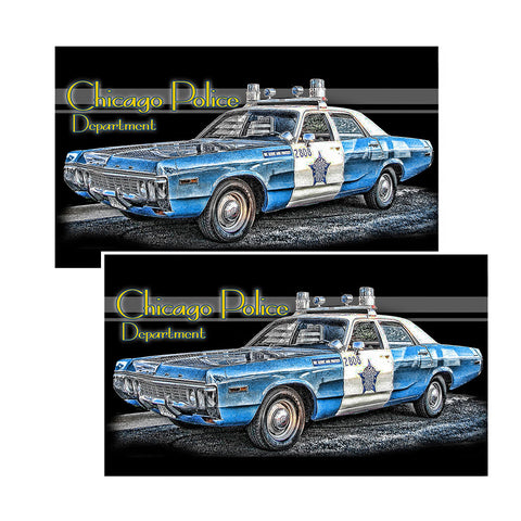 Vintage Chicago Police Department Decal Package of 4