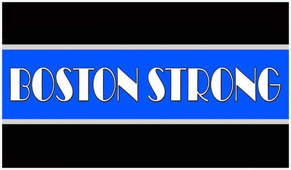 Boston Strong Thin Blue Line Decal