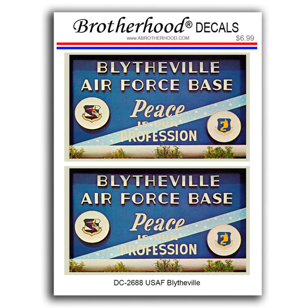 United States of Air Force Blytheville Air Force Base - 2 Decals or Magnets