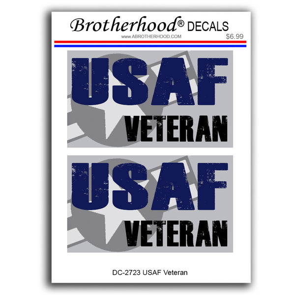 United States Air Force USAF Veteran - 2 Decals or Magnets