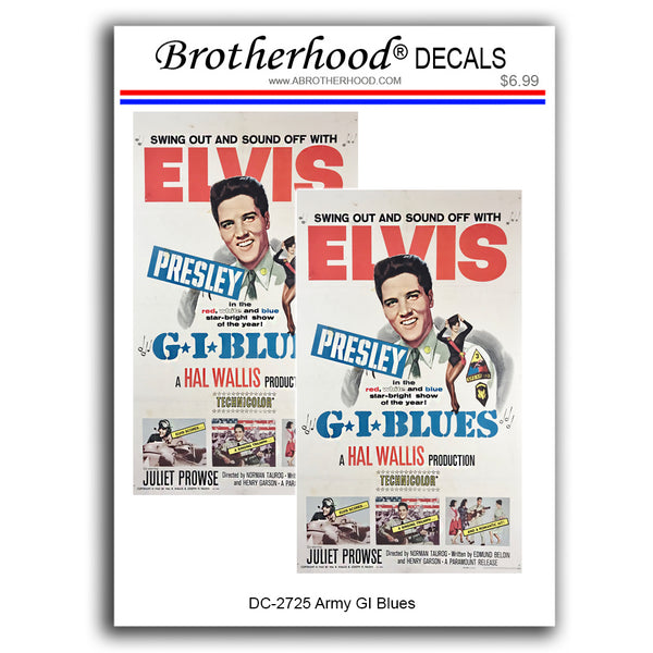 United States Army Elvis Presley In GI Blues - 2 Decals or Magnets