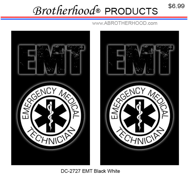 EMT Emergency Medical Technician Star of Life EMS - 2 Decals or Magnets