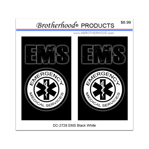 EMS Emergency Medical Services Star of Life Seal - 2 Decals or Magnets