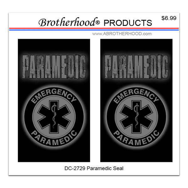 Paramedic Star of Life Emergency Paramedic - 2 Decals or Magnets