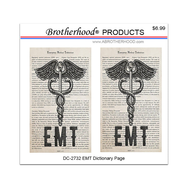 EMT Emergency Medical Technician Dictionary Page - 2 Decals or Magnets