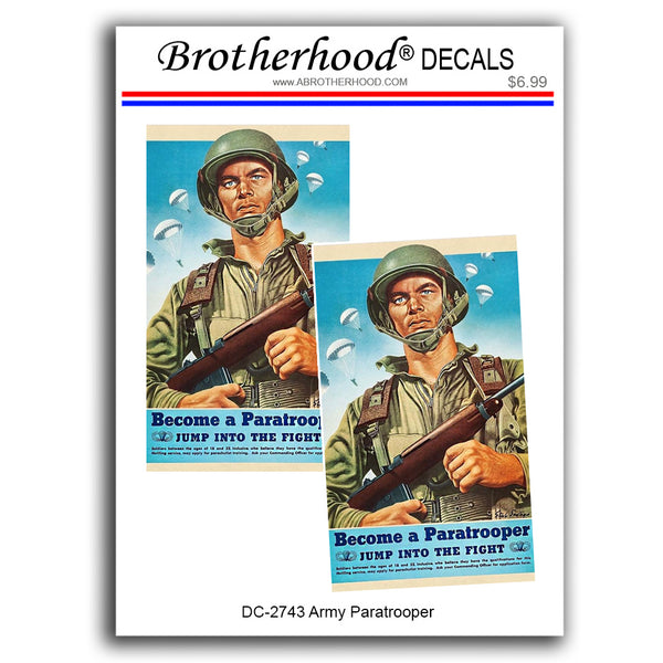United States Army Become A Paratrooper - 2 Decals or Magnets