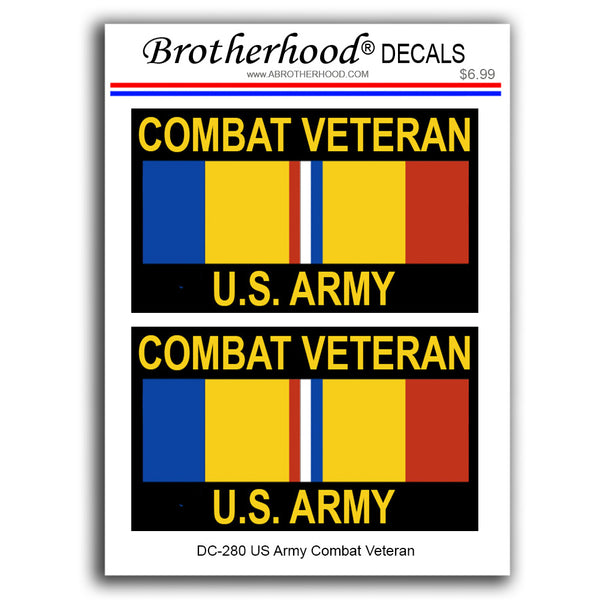 United States Army Combat Veteran Ribbon - 2 Decals or Magnets