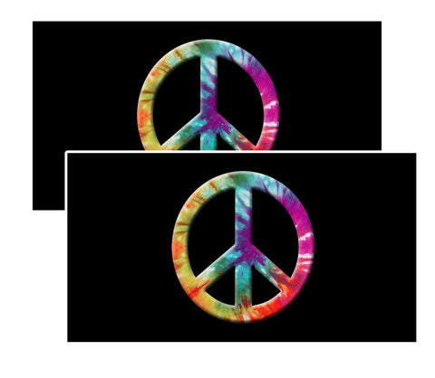 Tie-Dye Psychedelic Peace Decal Pack of 4