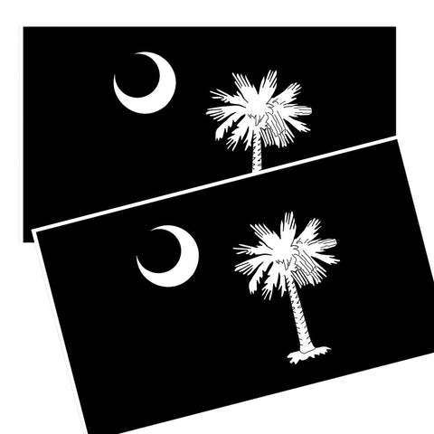 South Carolina Flag Sabal Palmetto and Crescent Moon Decals Package of 4
