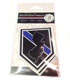 State of New Jersey Thin Blue Line Police Decal (Sticker) - Pack of 2 Decals