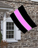 Thin Pink Line for Breast Cancer Decorative House Flag
