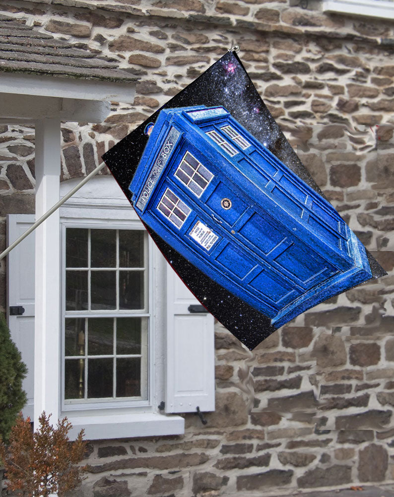 Dr. Who Tardis Decorative House Flag