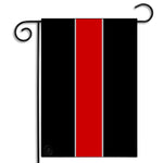 Double Sided Support Your Firefighters Thin Red Line Nylon Garden Apartment Flag