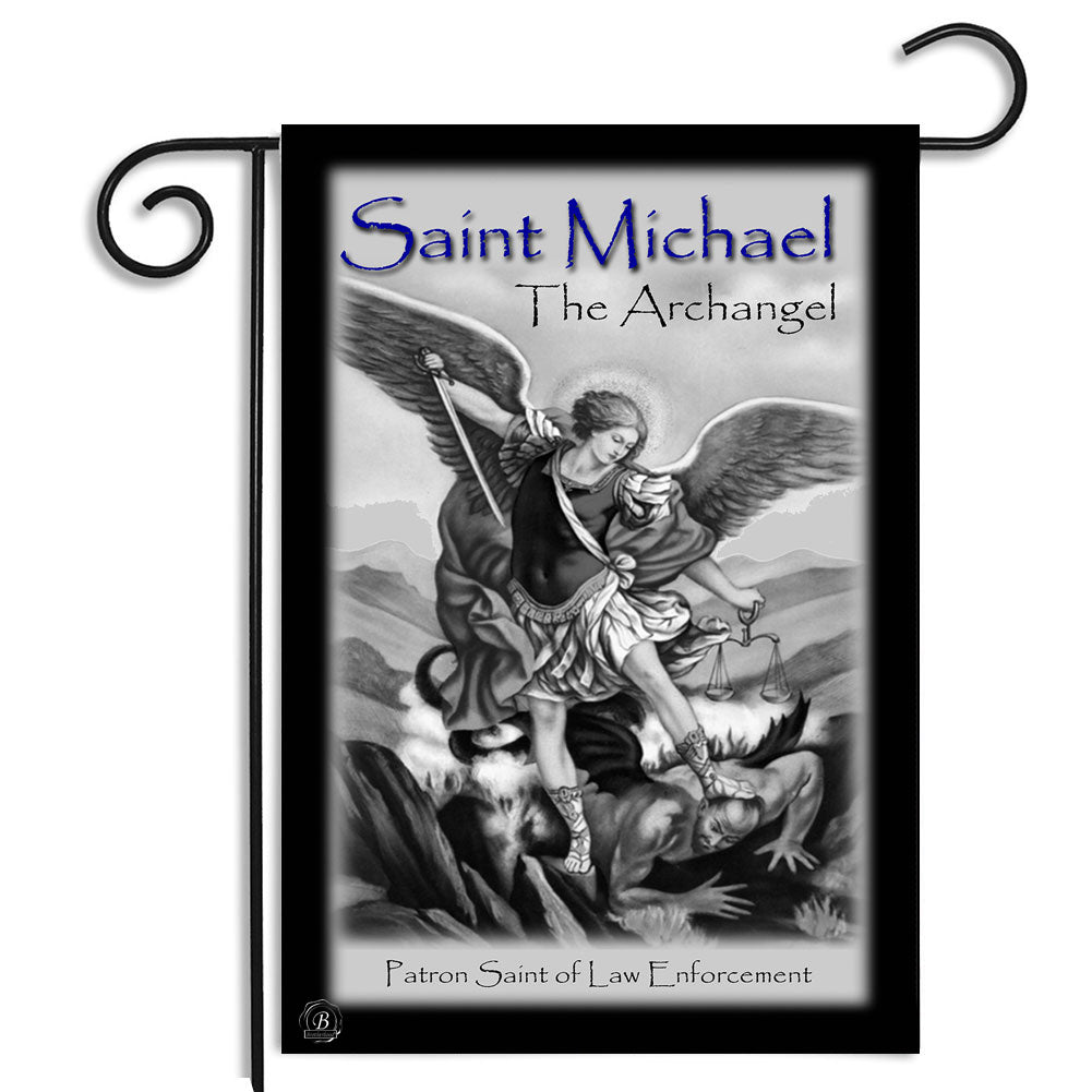 Saint Michael Patron Saint of Law Enforcement Outdoor Nylon Garden Apartment Flag