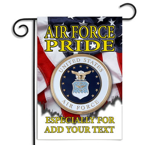 Personalized United States Air Force Air Force Pride Seal Apartment or Garden Flag