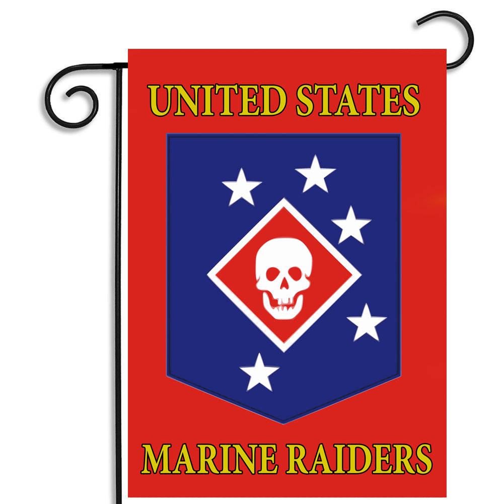 United States Marine Corps Marine Raiders Apartment or Garden Flag