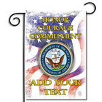 Double Sided Personalized United States Navy Honor Courage Commitment Pride Nylon Garden Apartment Flag