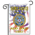 Double Sided Personalized United States Coast Guard Semper Paratus Nylon Garden Apartment Flag