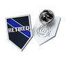 Police Sheriff Law Enforcement Retired Thin Blue Line Lapel Pin