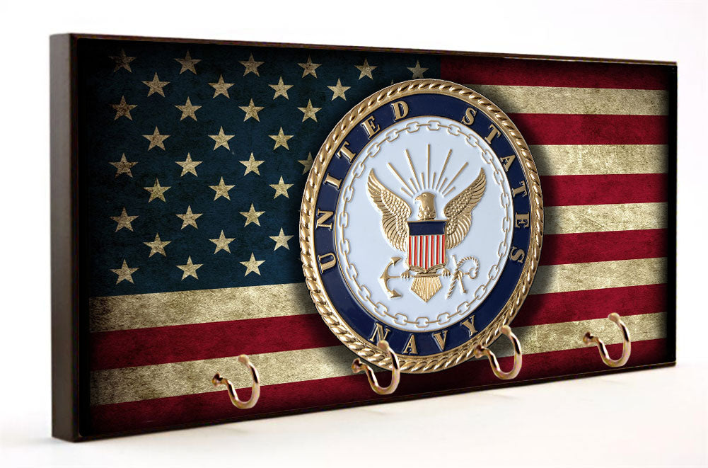 U.S. Navy Distressed American Flag Key Hanger