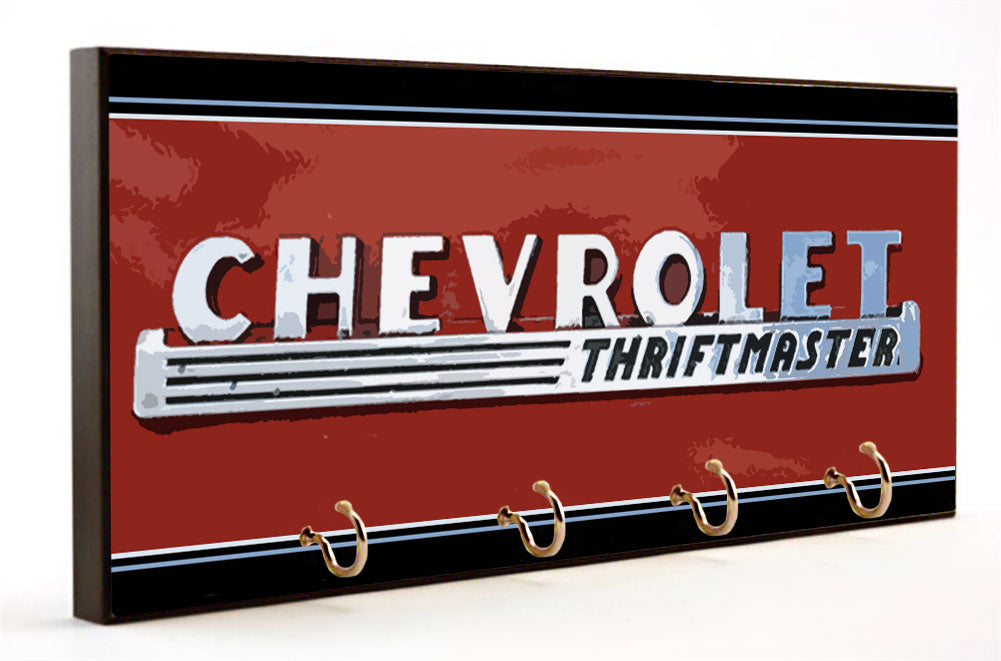 Chevrolet Thriftmaster Vintage Sign Key Hanger