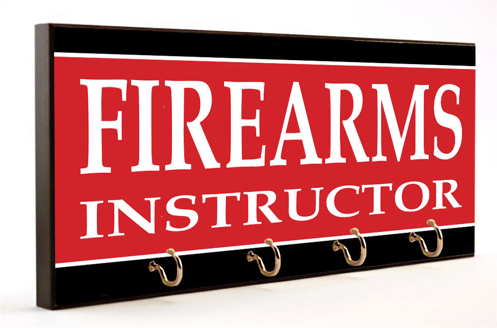 Firearms Instructor Police Key Hanger