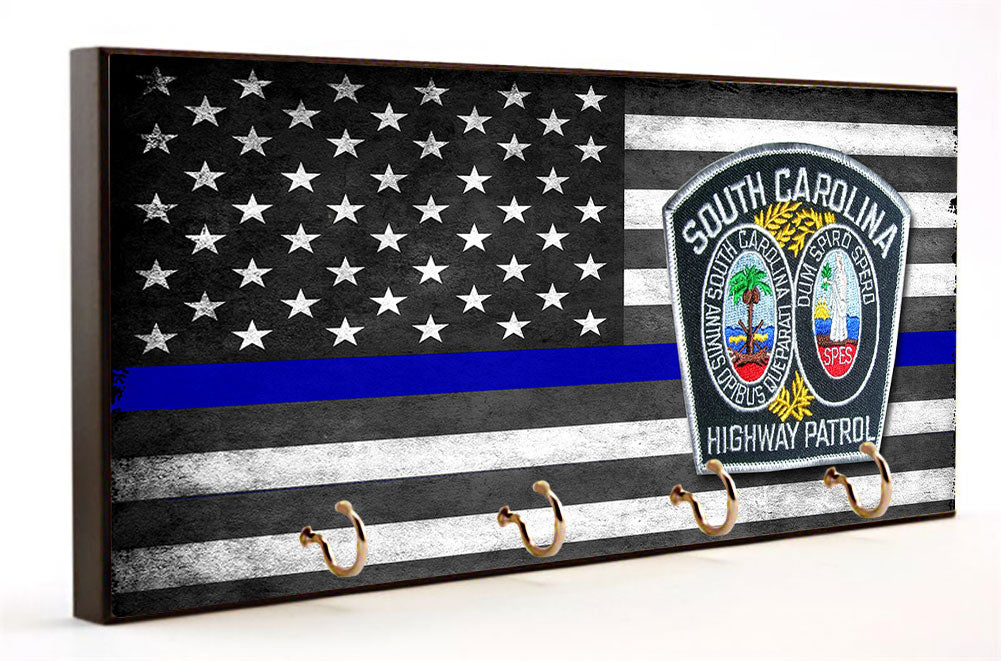 Blue Line South Carolina Highway Patrol Key Hanger