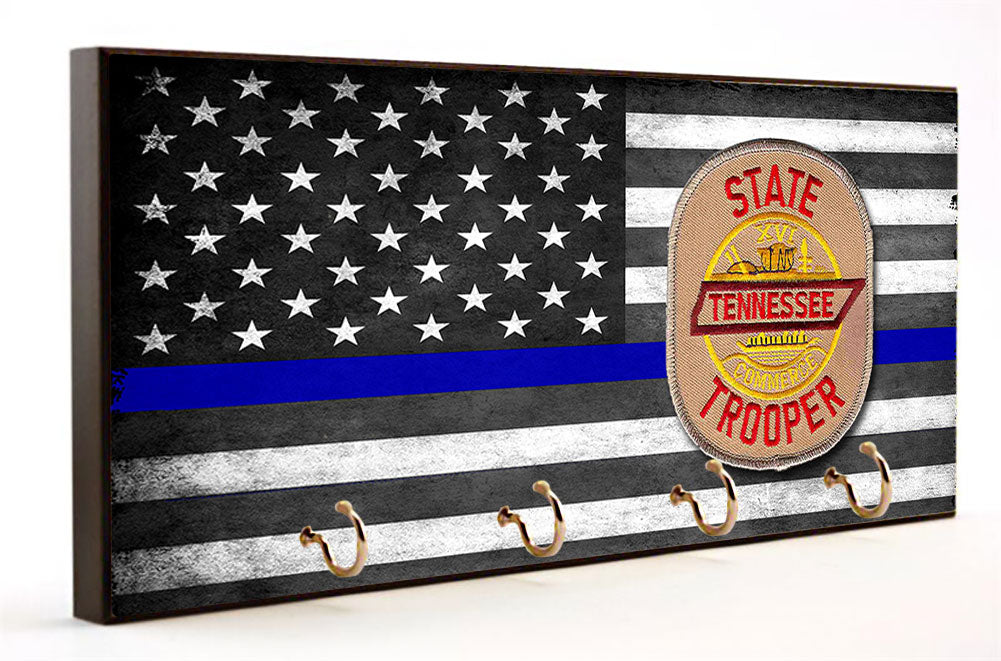 Blue Line Tennessee State Highway Patrol Key Hanger