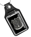 United States Navy Nuclear Weapons Security Badge Faux Leather Key Ring