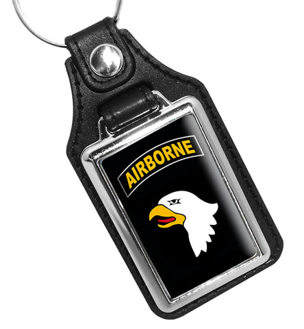 United States Army 101st Airborne Faux Leather Key Ring