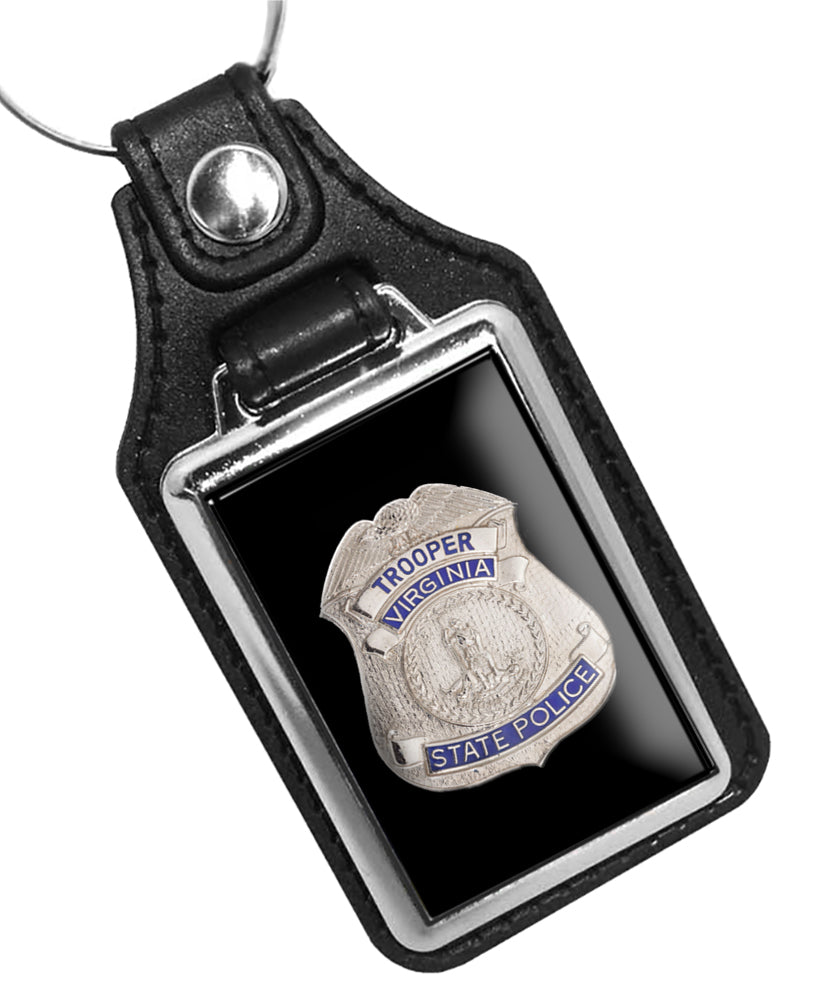 Police Key Chain State of Virginia Trooper States Police Badge