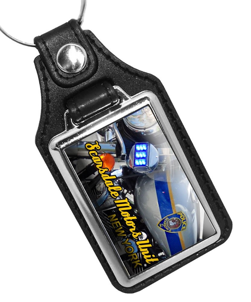 Police Scarsdale Key Chain New York Police Motorcycle Unit Design