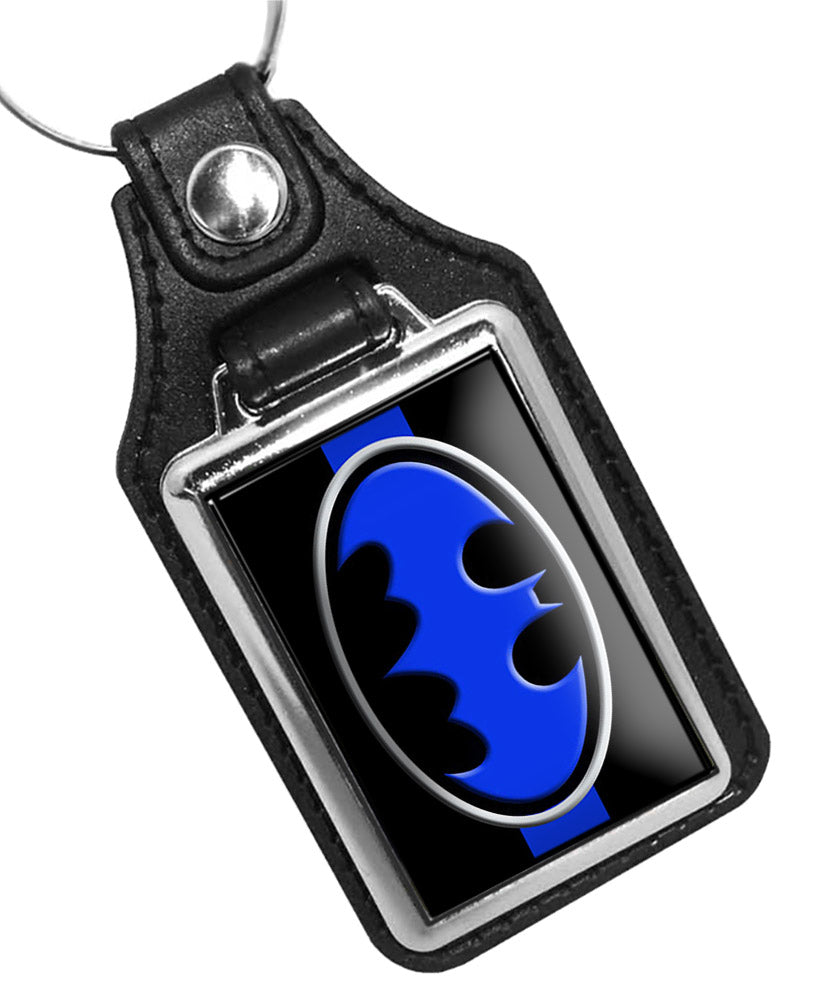 Police Key Chain Thin Blue Line Batman