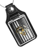 United States Marine Corps Subdued Flag Globe & Anchor Faux Leather Key Ring