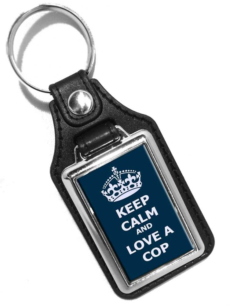 Police Key Chain Keep Calm and Love A Cop