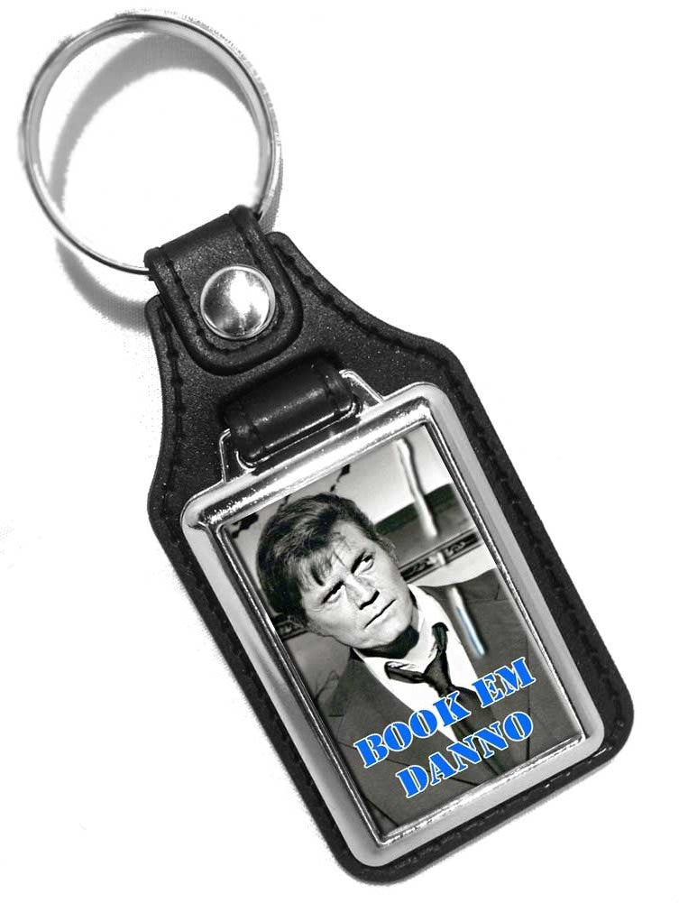 Hawaii 5-0 Book Em Dano 1970's TV Show Faux Leather Key Ring